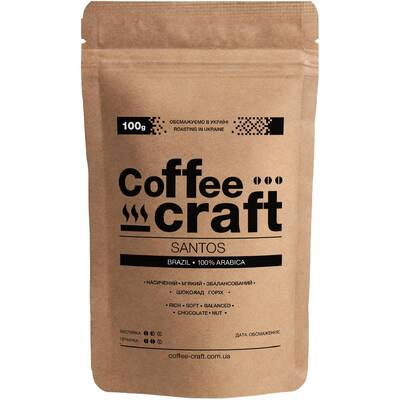 Кофе в зернах Бразилия Сантос (Brazil Santos)