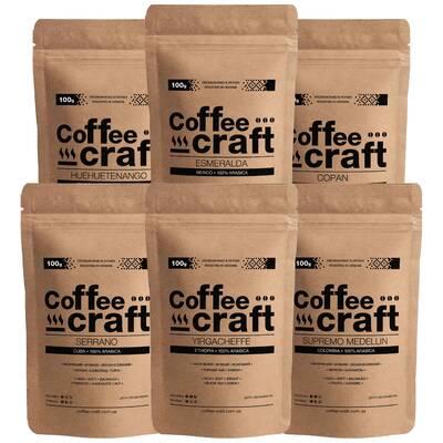 Дегустационный набор кофе 6 сортов по 100\250 г